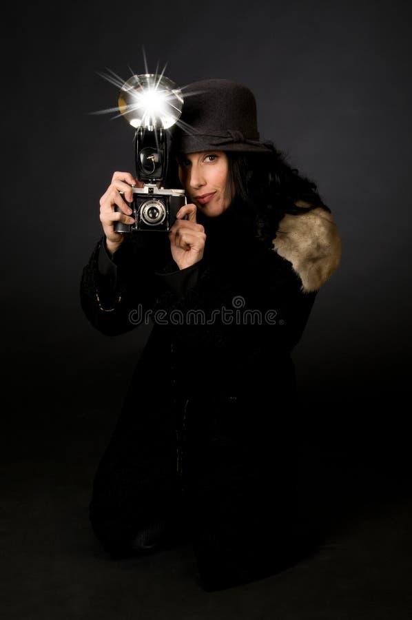 Retro Fotograaf van de Stijl stock fotografie