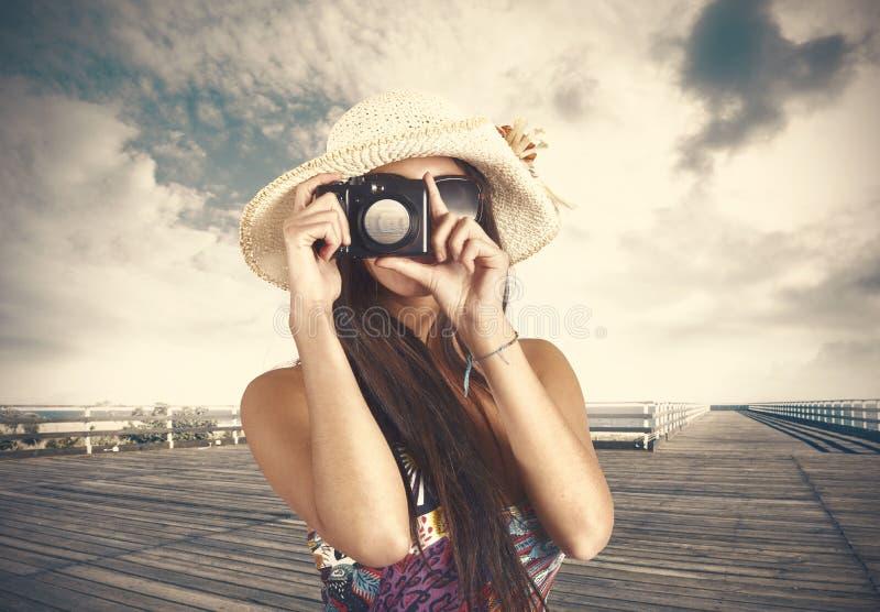 Retro fotograf fotografia stock