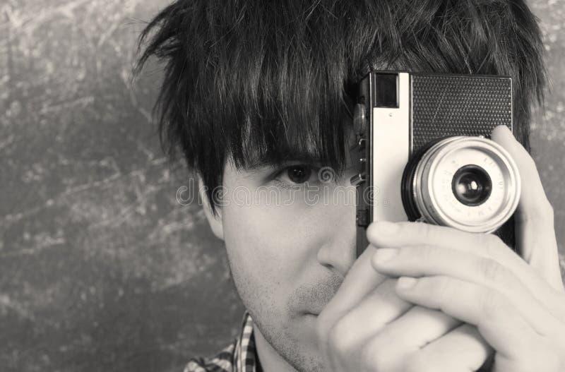 retro fotografa idzie obrazek bierze ty zdjęcie stock