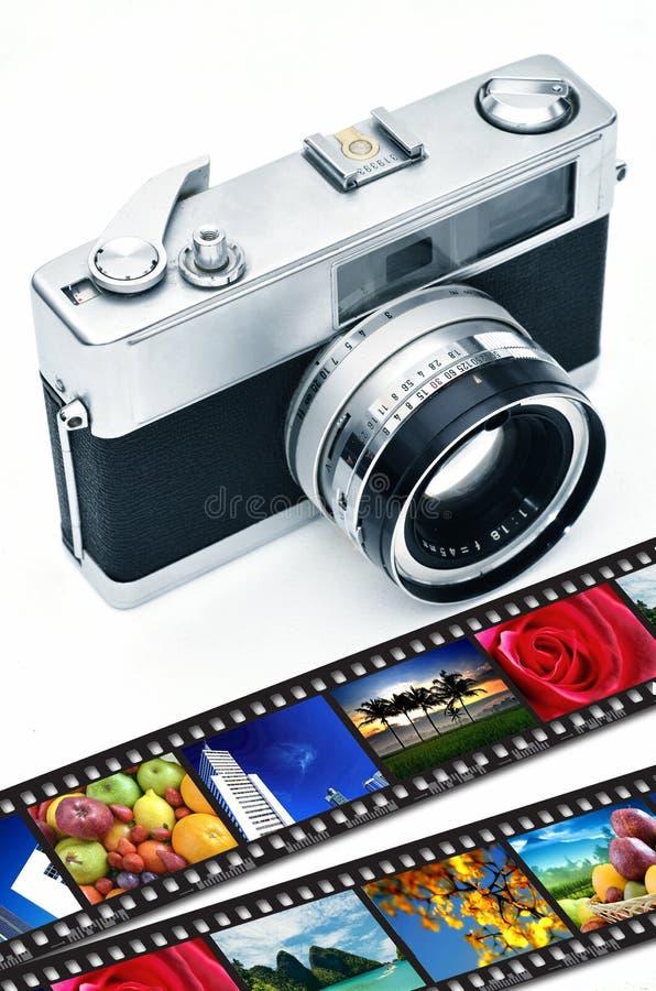 Retro fotografia della macchina fotografica fotografia stock libera da diritti