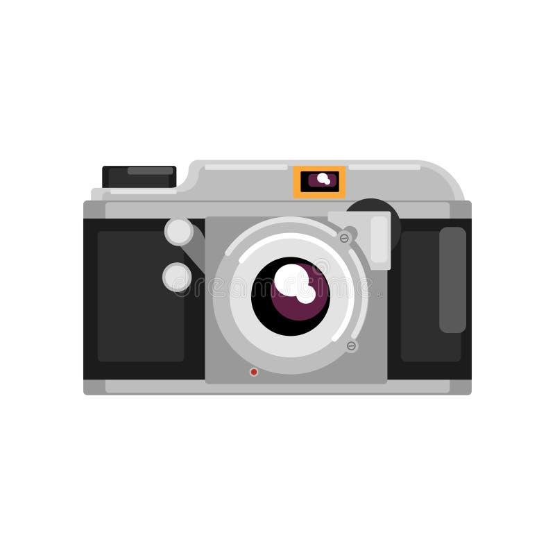 Retro fotografii kamery wektorowa ilustracja na białym tle royalty ilustracja