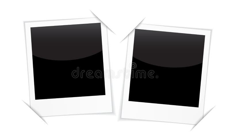 Retro 2 fotografii ramy na bielu ilustracji