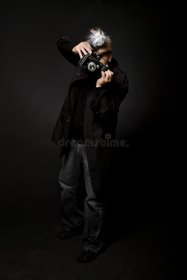 Retro fotografo di stile fotografia stock libera da diritti