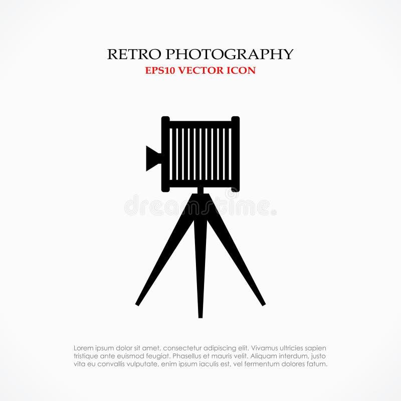 Retro fotosymbool vector illustratie