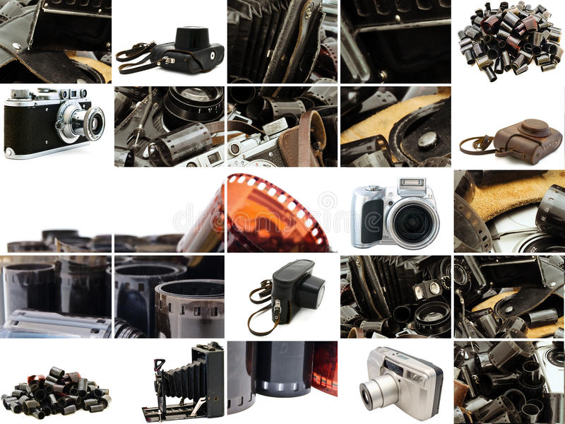 Retro- Fotozubehör lizenzfreie stockfotografie