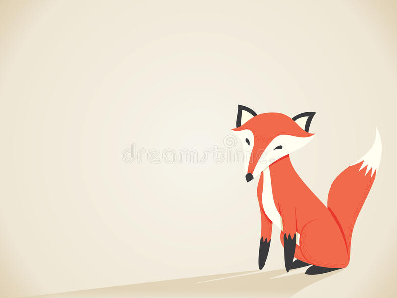 Retro- Fox vektor abbildung