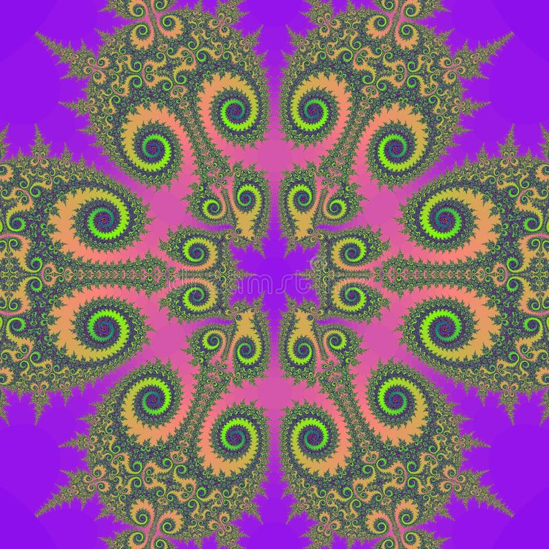 retro fractal ilustracja ilustracji