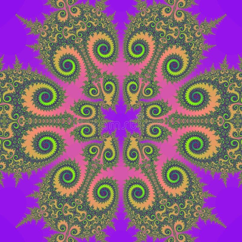 retro fractalillustration stock illustrationer