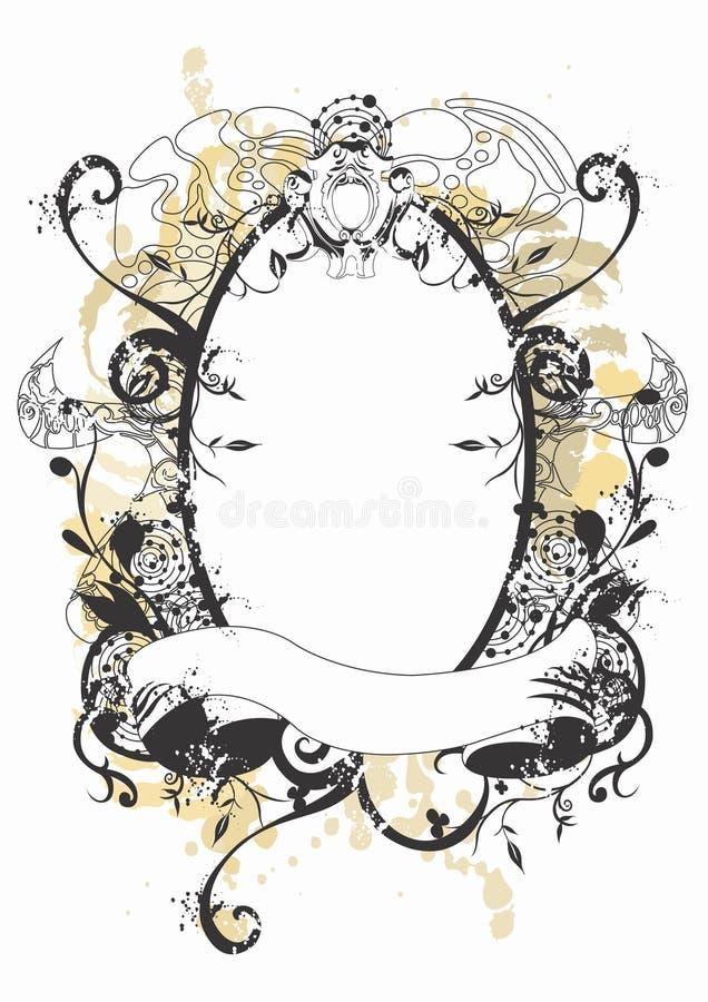 Retro frame stock illustratie