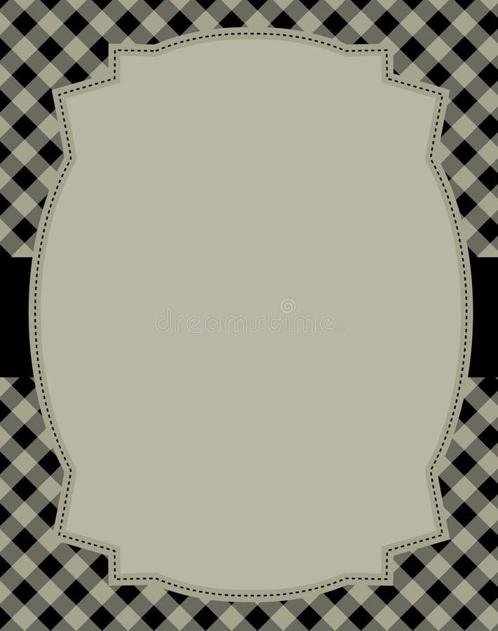 Retro frame/achtergrond stock illustratie