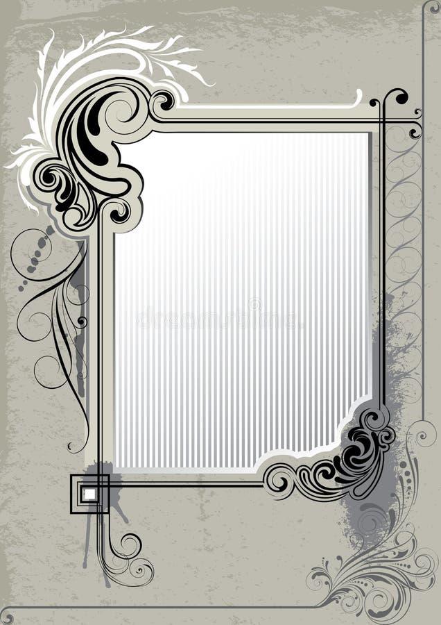 Retro frame als achtergrond royalty-vrije illustratie