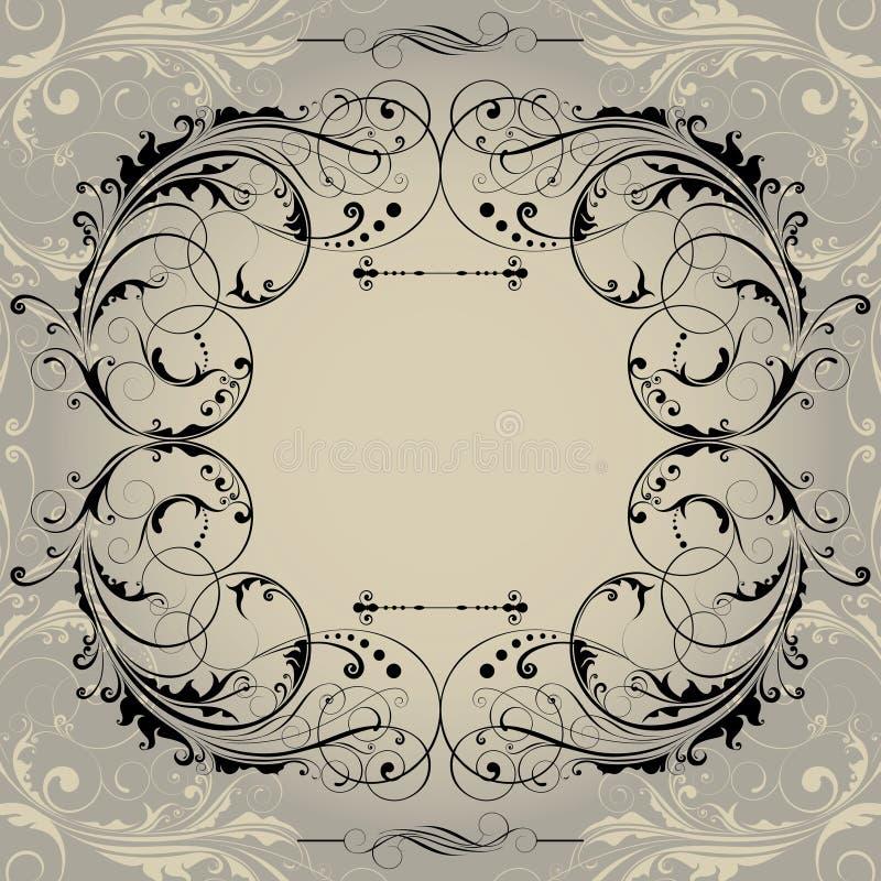 Retro frame als achtergrond vector illustratie