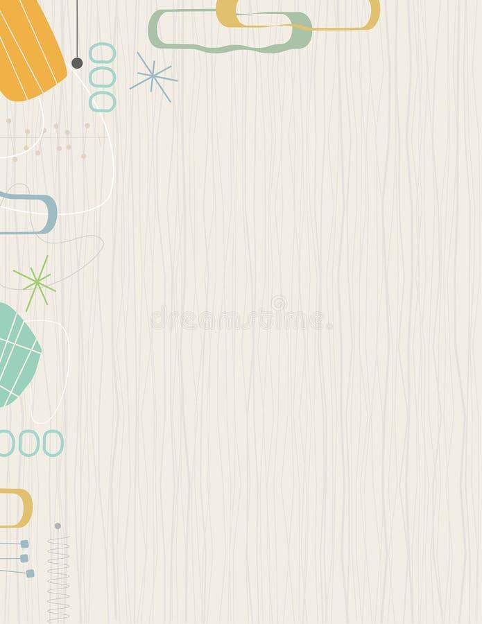 Retro Frame Barkcloth stock illustratie