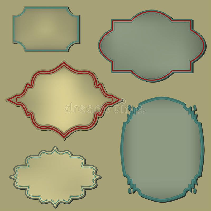 Retro frame. Set royalty free illustration