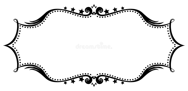Retro frame silhouette royalty free illustration