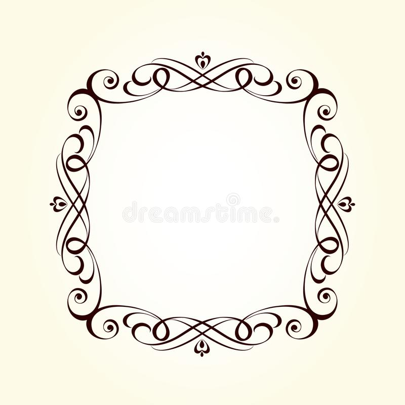 Retro frames for your projects.Vector . stock illustration