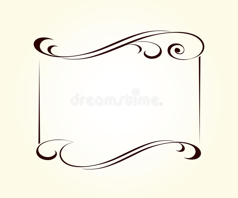Retro frames for your projects.Vector . royalty free illustration