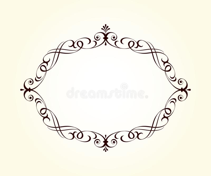 Retro frames for your projects.Vector . vector illustration