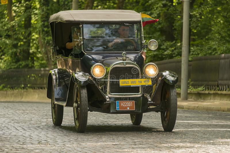 Retro fratelli anziani 1922 di Dodge dell'automobile immagine stock libera da diritti