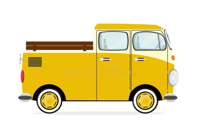 Retro furgone del fumetto illustrazione vettoriale
