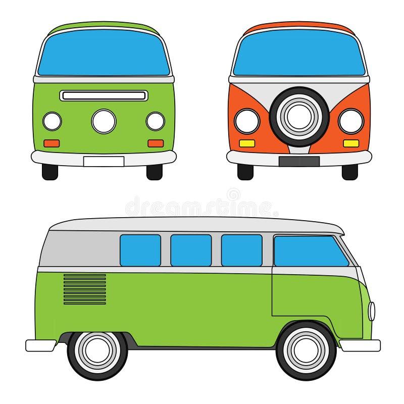 Retro furgone di viaggio royalty illustrazione gratis