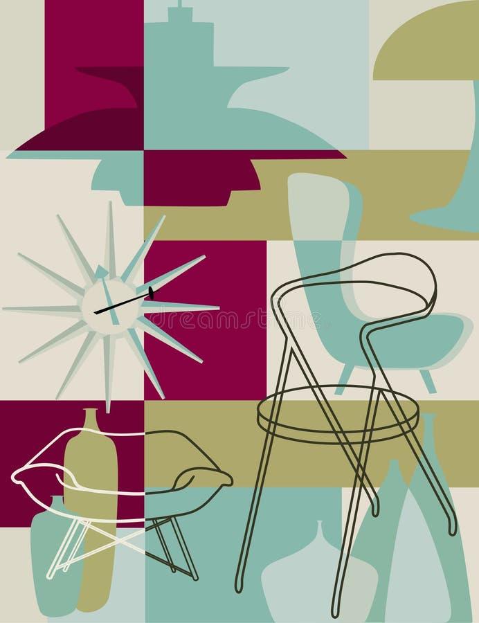 Download Retro furniture stock vector. Image of revival, clock - 27594066