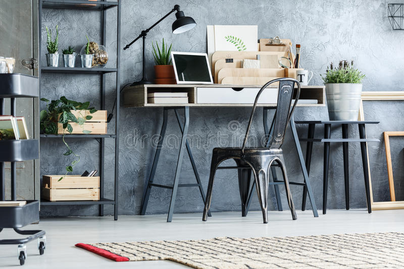 Retro furniture in office room royalty free stock images