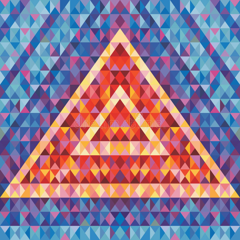 Free Retro Futurism - Abstract Vector Background. Abstract Geometric Pyramid. Geometric Vector Pattern. Royalty Free Stock Photography - 54055997