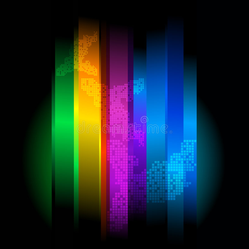 Download Retro Futuristic Abstract Background Stock Illustration - Illustration of rainbow, modern: 7684770