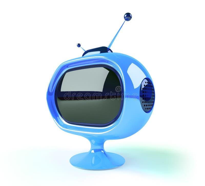 Retro futuristische TV royalty-vrije illustratie
