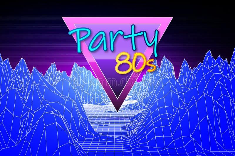 Retro futuristisk bakgrunds80-talstil vektor illustrationer