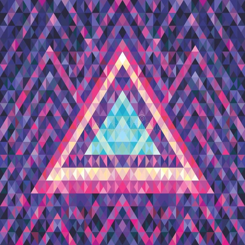 Retro futuryzm - abstrakcjonistyczny wektorowy tło Wektor deseniowa ilustracja Geometryczny wektorowy tło ilustracji