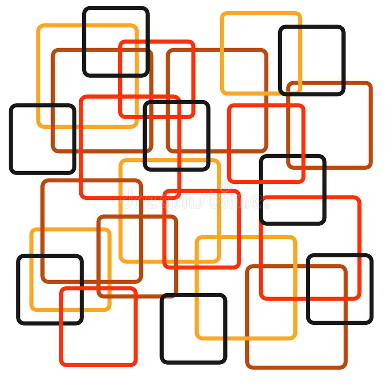 retro fyrkanter stock illustrationer