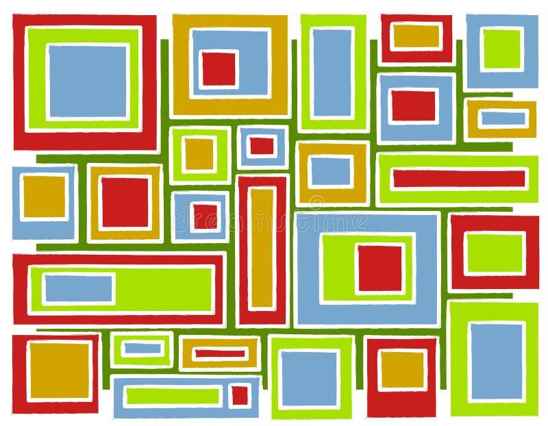 retro fyrkanter för bakgrundsjul royaltyfri illustrationer