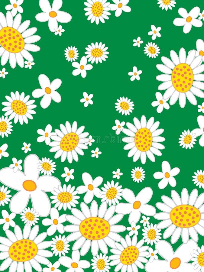 Retro- Gänseblümchenblumenleistung stock abbildung