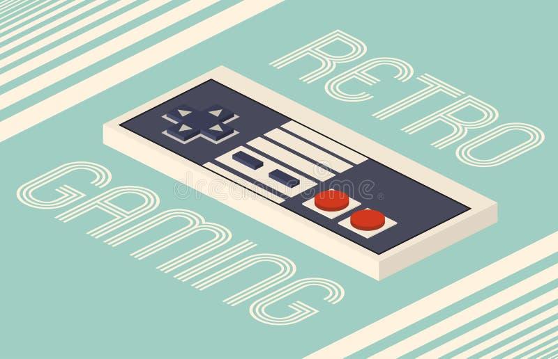 Retro gaming isometric vector illustration royalty free illustration