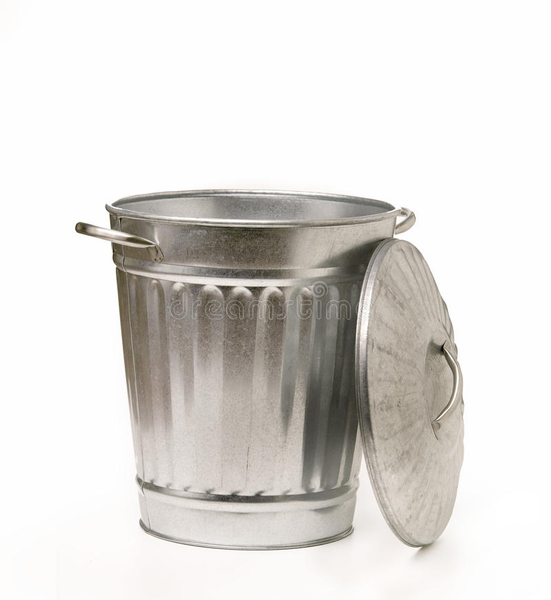 Free Retro Garbage Can With Lid Royalty Free Stock Photos - 13354028