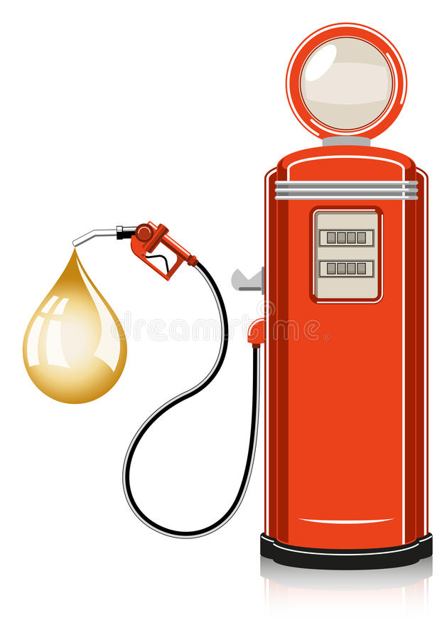 Retro Gas Pump vector illustration