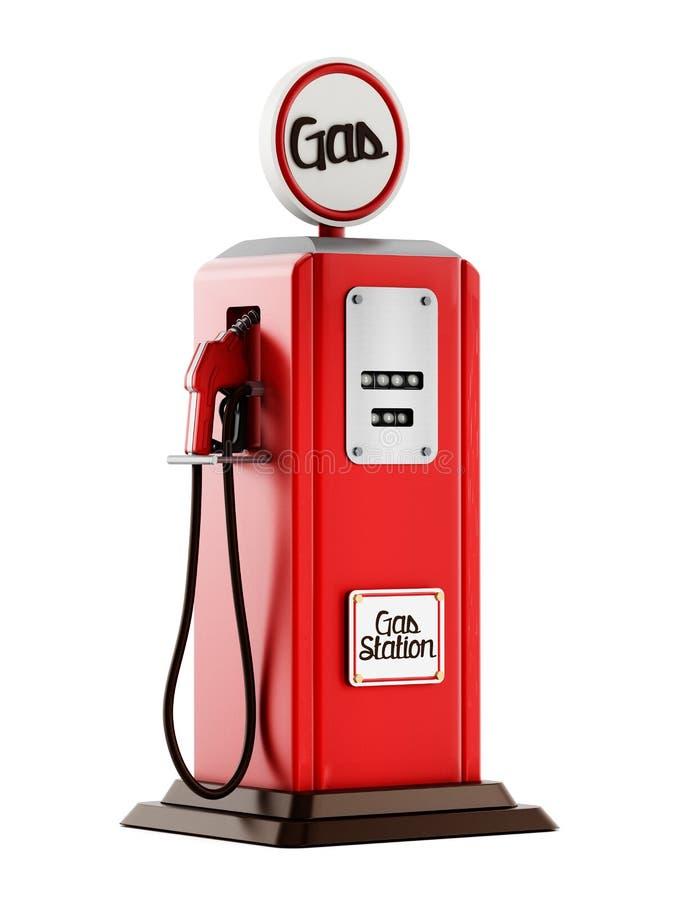 Retro- Gas-Pumpe stockbild