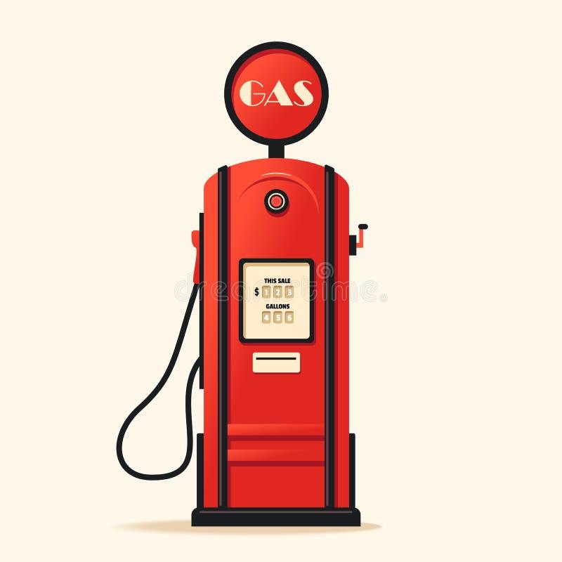 retro gas station cartoon vector illustration stock vector rh dreamstime com cartoon gas station attendant cartoon gas station