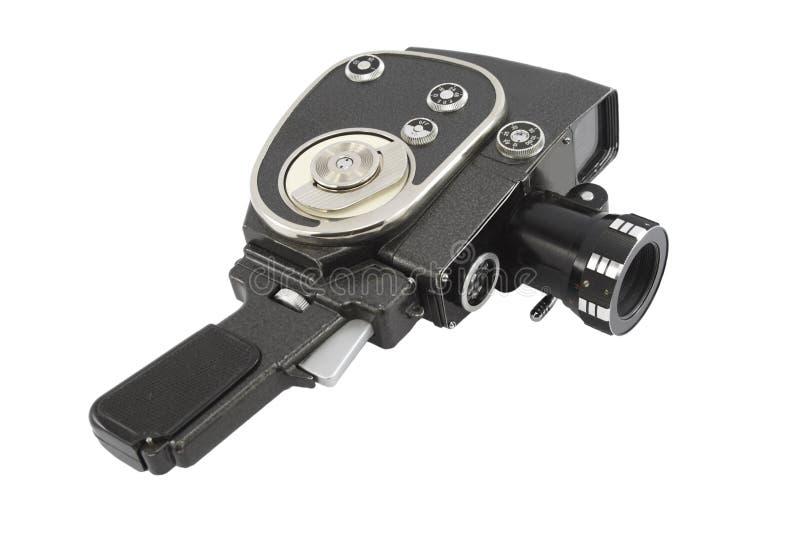 Retro geïsoleerdel filmcamera   stock afbeelding