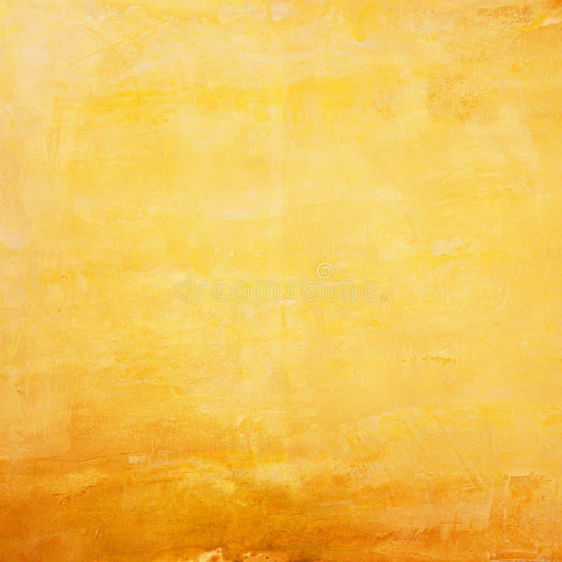Retro- gelbe Betonmauer stockfoto
