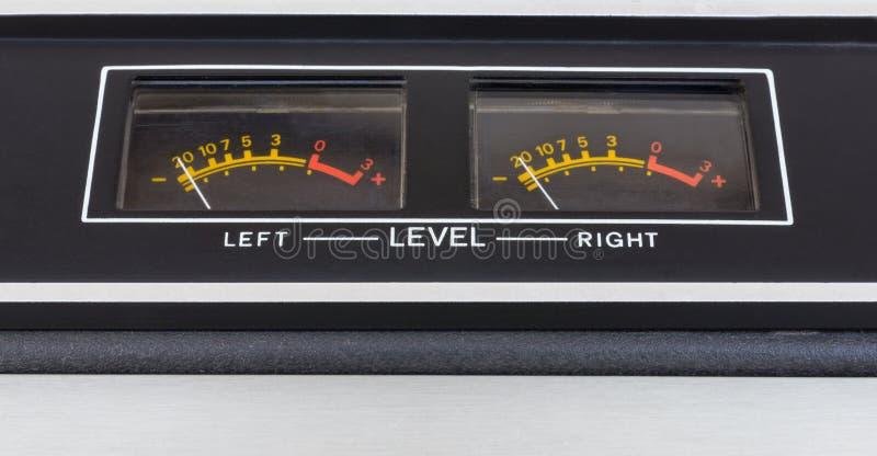 Retro geluidsdrempelmeter stock afbeelding