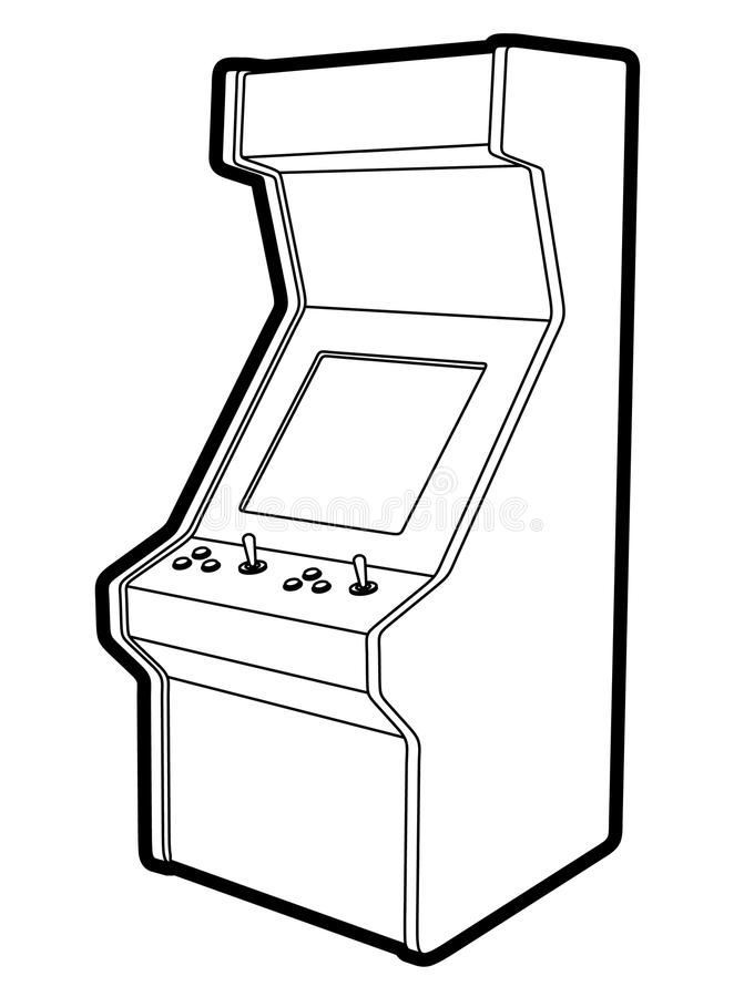 Retro gemowa maszyna ilustracji