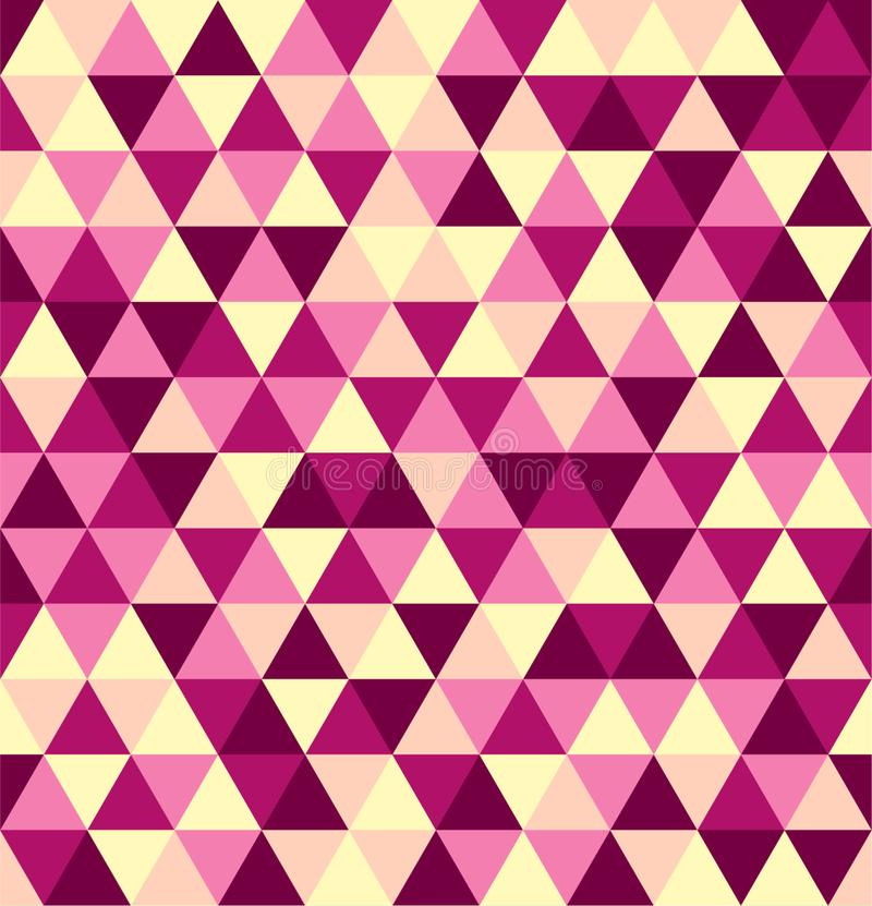 Retro geometric triangle seamless repeating background pattern. Mosaic of various shades royalty free stock photo