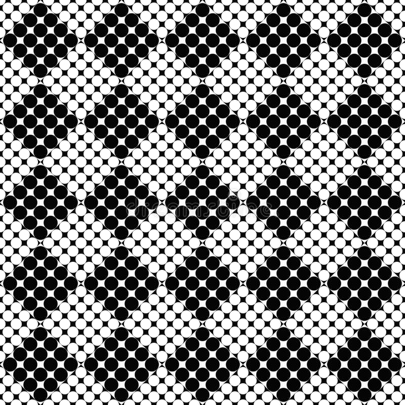 Retro geometrical bezszwowy abstrakcjonistyczny okręgu wzoru tła projekt ilustracji