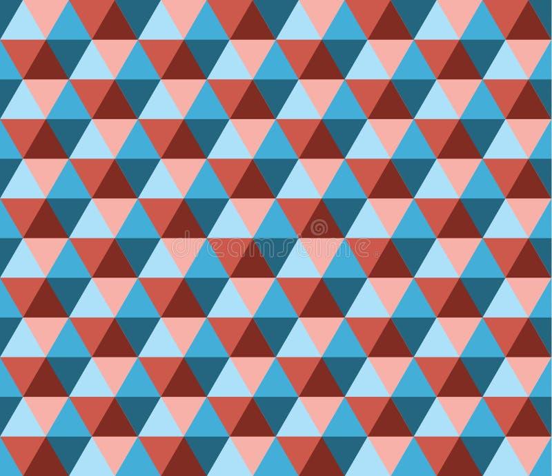 Retro geometrisch hexagon naadloos patroon vector illustratie