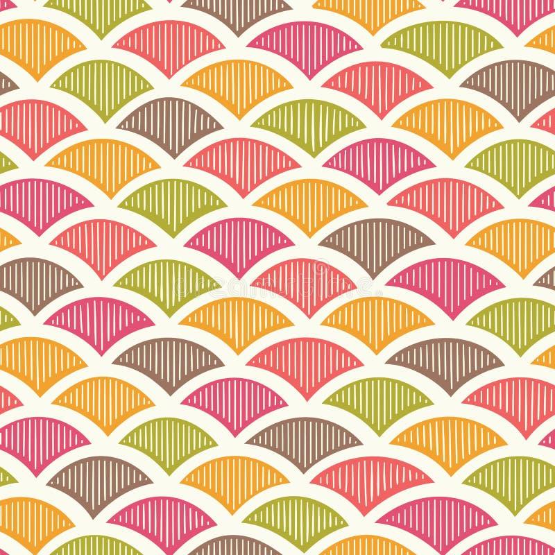 Retro geometrisch patroon stock illustratie