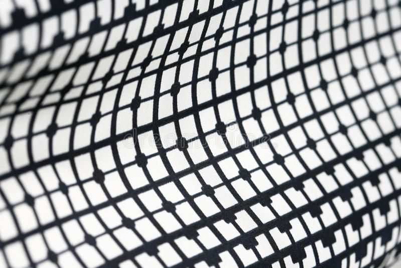 Retro geometrisch textiel zwart-wit patroon stock fotografie