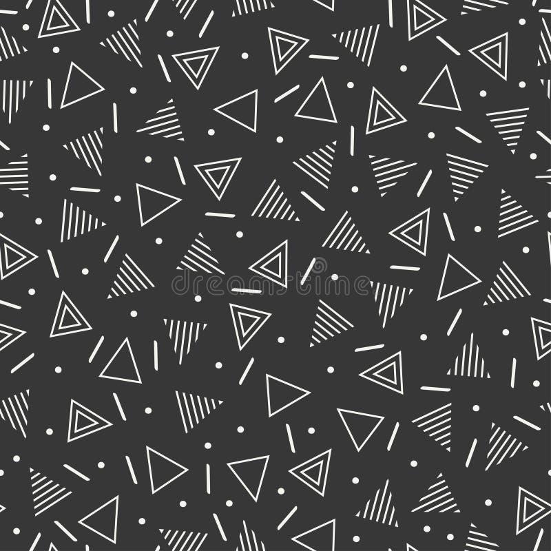 Retro- Geometrische Linie Nahtlose Muster Memphis Der Formen Hippie ...